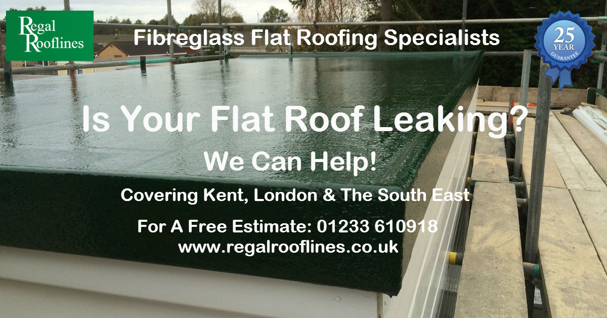 Fibreglass Flat Roofs Ashford Kent Domestic & Commercial