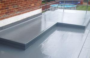 New Fibreglass Flat Roof in kent