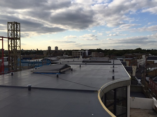 Commercial Roof fibreglass installation 1