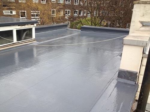 Flat roof fibreglass example 1