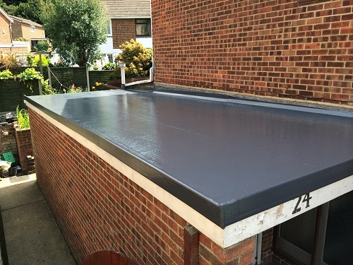 Flat roof fibreglass example 3