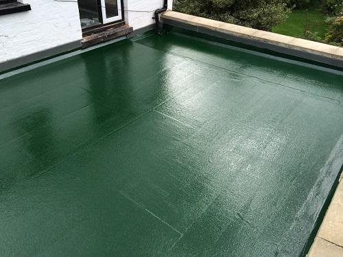 Flat roof fibreglass example 4