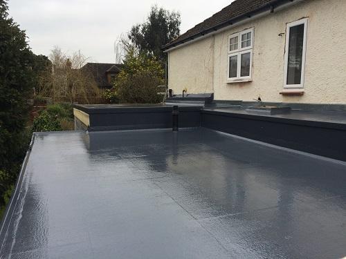Flat roof fibreglass example 6