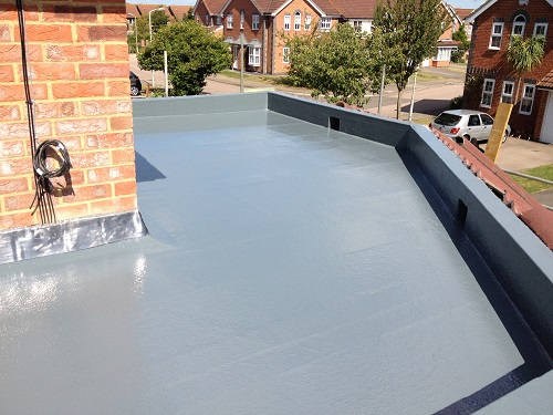 Flat roof fibreglass example 7