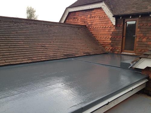 Flat roof fibreglass example 8