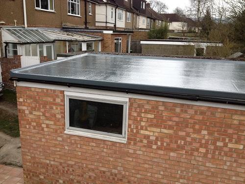 Flat roof fibreglass example 9