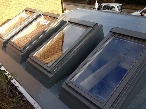 Flat roof windows example 11