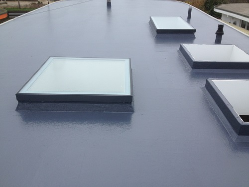 flat roof windows example 1