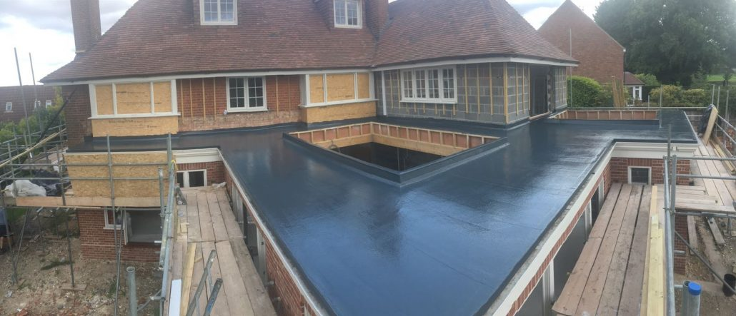 Large Flat Roof With Orangery Rooflight