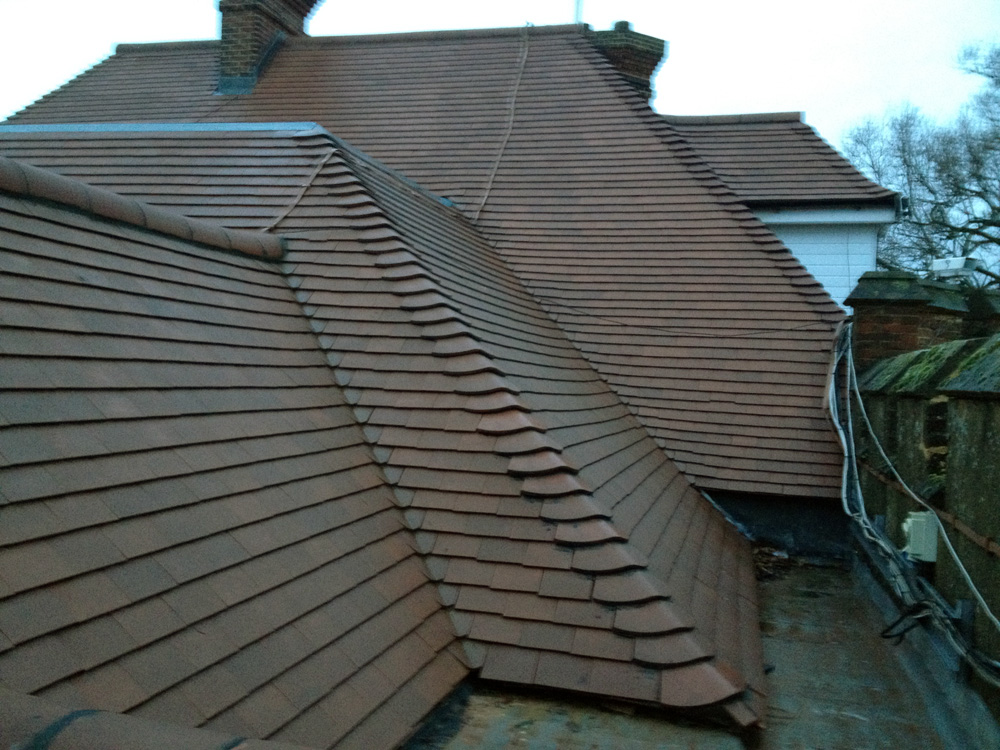 tiled roofing
