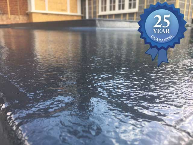 Fibreglass roofing with a 25 year guarantee