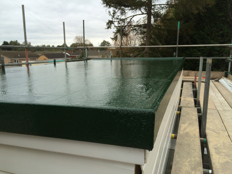 GRP Fibreglass Flat Roofs do no leak