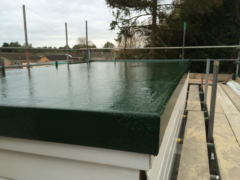 GRP Fibreglass Flat Roofs do no leak